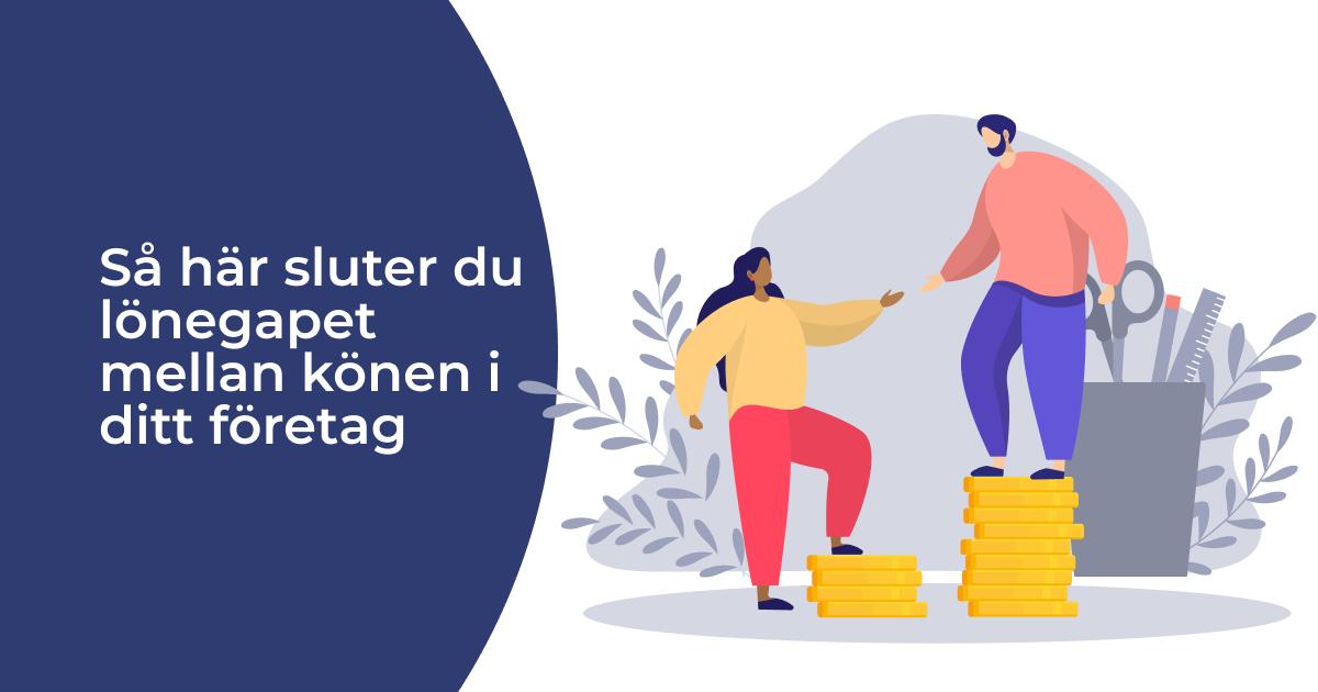 lönegapet mellan könen i ditt företag
