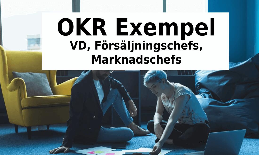 OKR Exempel - VD, Försäljningschefs, Marknadschefs